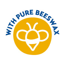 With pure beeswax
