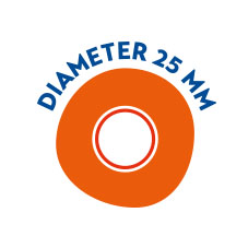 Diameter 25mm