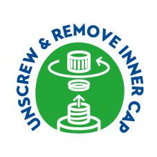 Unscrew & remove inner cap