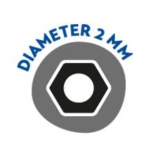 Diameter 2mm