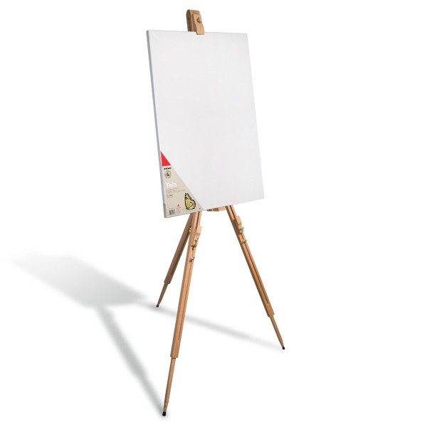 Easels, canvases and brush Outdoor easel