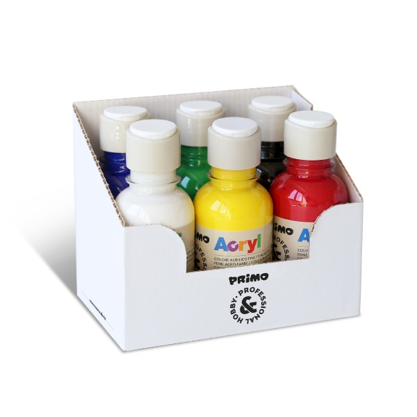 Fine Acrylic Paint 6 bottles